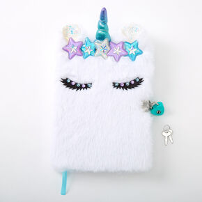 Grace the Unicorn Lock Diary - White,