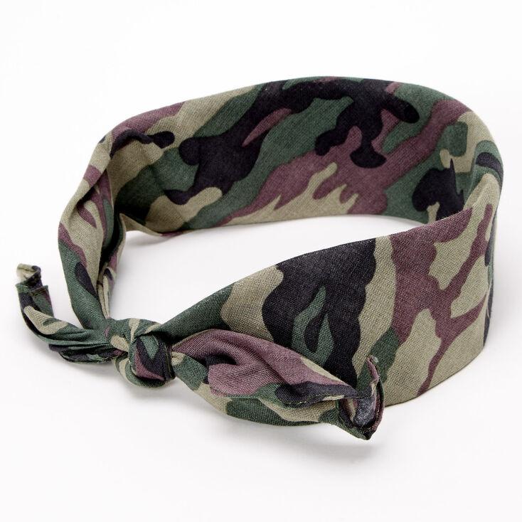Camo Print Bandana Headwrap,