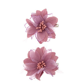 Hair clips grips claws claires us glitter feather lily flower hair clip mauve mightylinksfo