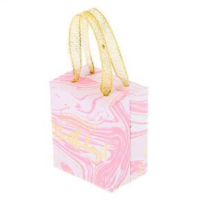 Small Happy Birthday Marble Gift Box - Pink,