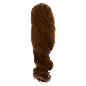 Extensions courtes en cheveux synthétiques pour queue de cheval - Châtain,