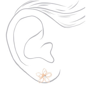Rose Gold Wire Glitter Flower Jewelry Set - 2 Pack,