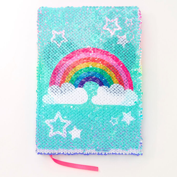Rainbow Panda Reversible Sequin Diary,