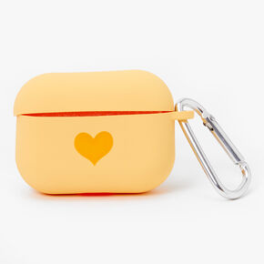 Yellow Heart Silicone Earbud Case Cover - Compatible with Apple AirPods Pro®,