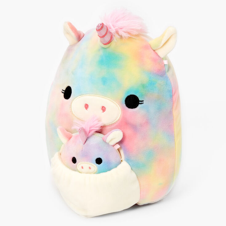 "Squishmallow™ Rainbow Unicorn Mom & Baby 8"" Plush Toy,"