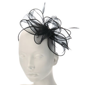 Oversized Layered Bow Fascinator Headband,