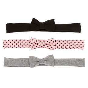 Claire's Club Hearts Bow Headwraps - 3 Pack,
