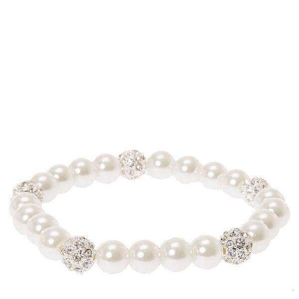 Claire's - pearl & fireball stretch bracelet - 1