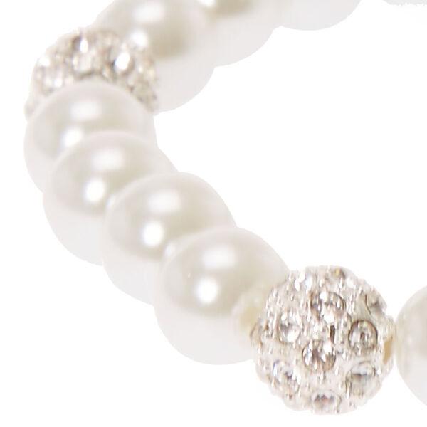 Claire's - pearl & fireball stretch bracelet - 2