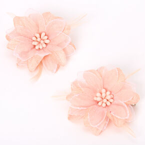 Lily Flower Hair Clips - Blush Pink, 2 Pack,