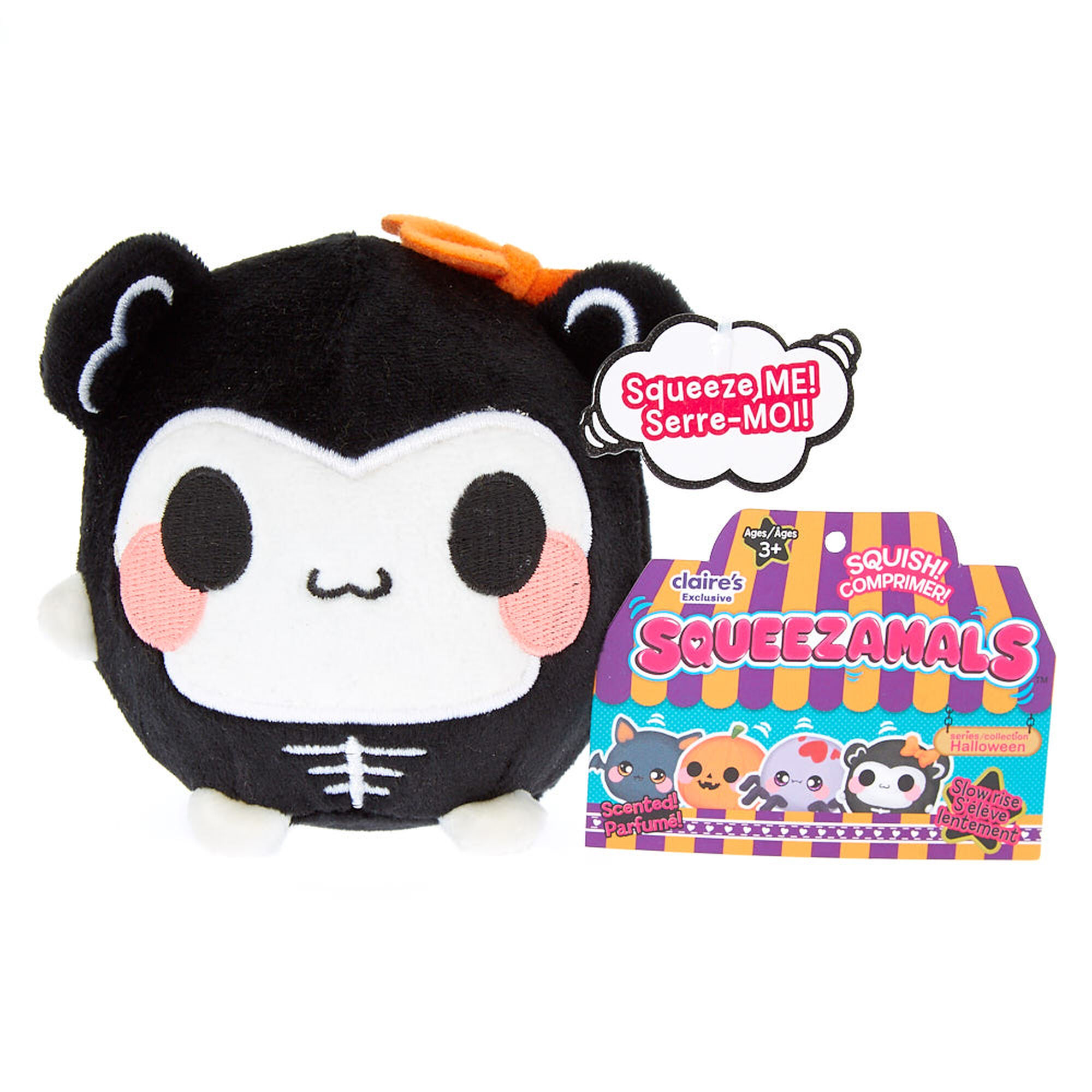 squeezamals scented stella the skeleton plush toy | claire's us