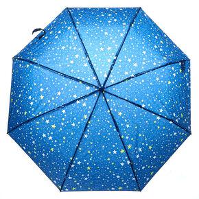 Parapluie étoiles bleu marine,