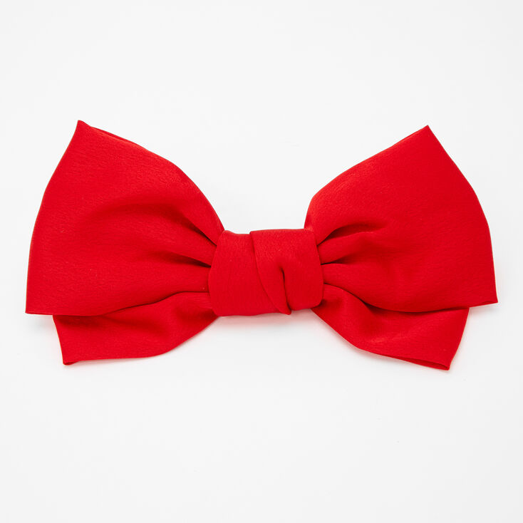 Large Hair Bow Clip - Red,