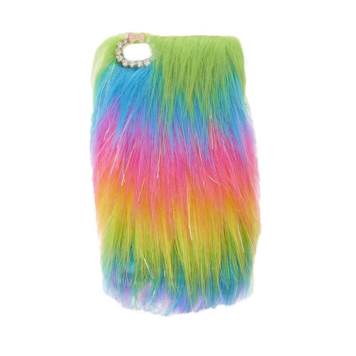 half off 0a37c 22bc1 Rainbow Faux Fur Phone Case