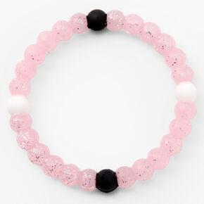 Glitter Beaded Stretch Bracelet - Pink,