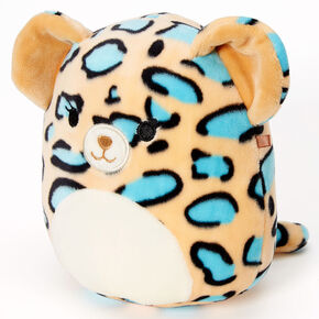 "Squishmallows™ 5"" Teal Leopard Plush Toy,"