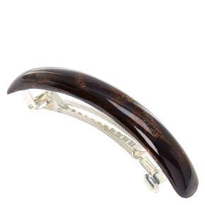 Metallic Arch Hair Barette - Brown,