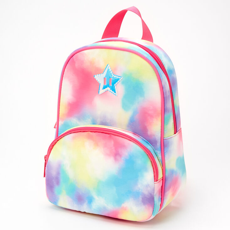 Claire's Club Tie-Dye Star Mini Backpack,