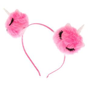 9355222412f Unicorn Cat Ear Pom Headband - Pink