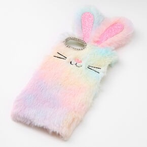 Furry Rainbow Bunny Phone Case - Fits iPhone 6/7/8/SE,