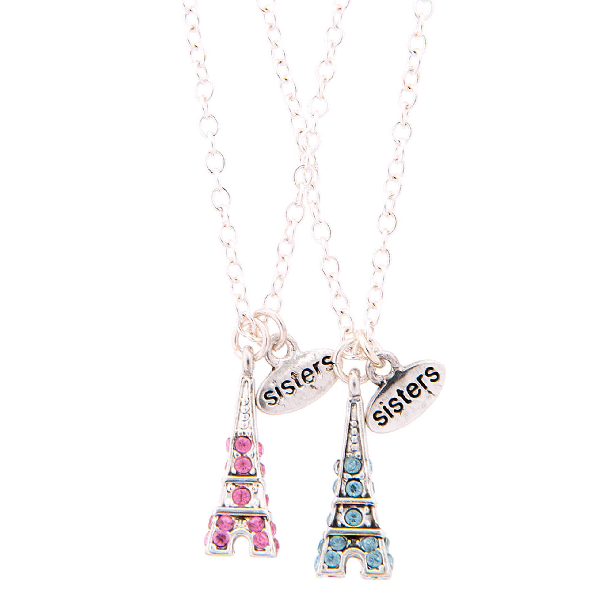 Best friends sister eiffel tower pendant necklace claires us best friends sister eiffel tower pendant necklace aloadofball Images