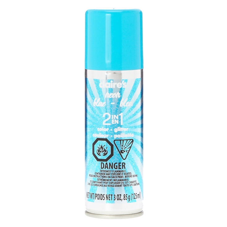 2 in 1 Neon Blue Hairspray,