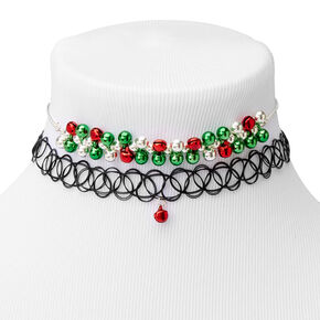 Jingle Bell Mixed Choker Necklaces - 2 Pack,
