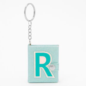 Initial Mini Journal Keychain - R,