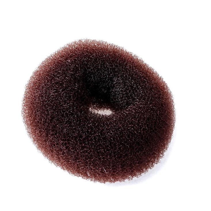 Grand donut pour cheveux marron,