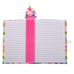 7c1d6c93d2a Miss Glitter the Unicorn Popover Bookmark Lock Diary - Pink