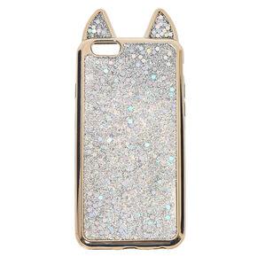 Metallic Silver Cat Phone Case 35e3845189