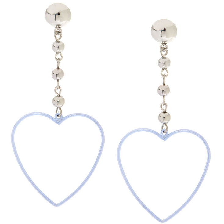 Holographic Heart Drop Earrings