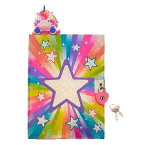 95ad87adf1b Miss Glitter the Unicorn Popover Bookmark Lock Diary - Pink