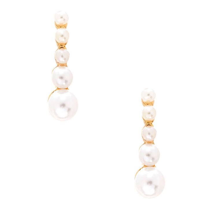Pearl Ear Suspender Earrings,