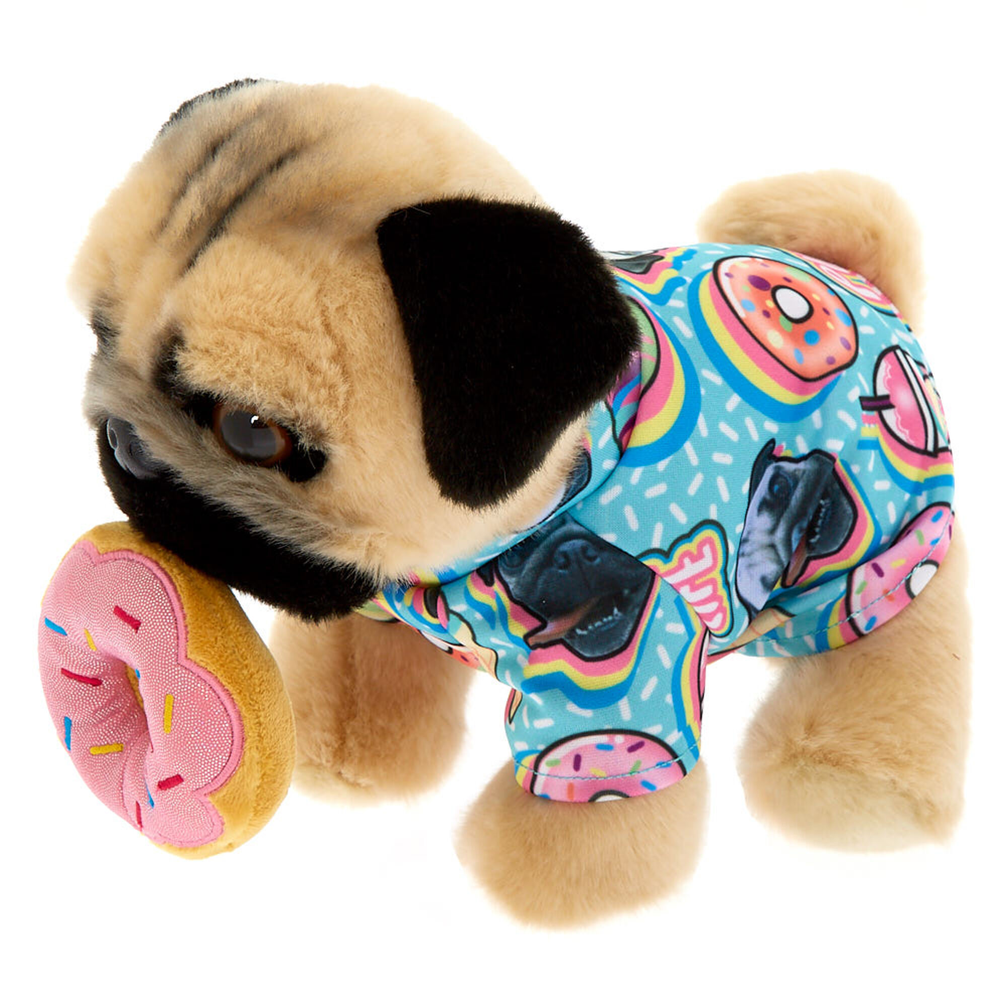 Doug The Pug© Donut Medium Plush Toy - Cream