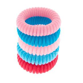 Claire's Club Velvet Spiral Hair Bobbles - 5 Pack,