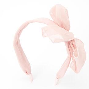 Chiffon Knotted Bow Headband - Pink,