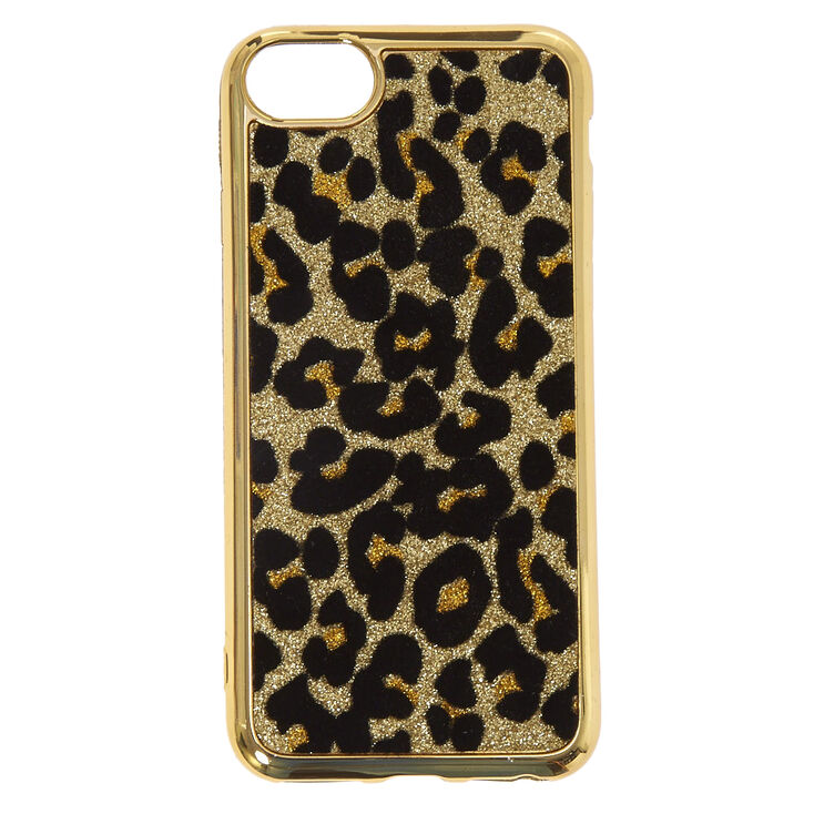 new product bbe9c 30826 Metallic Gold Leopard Print Phone Case