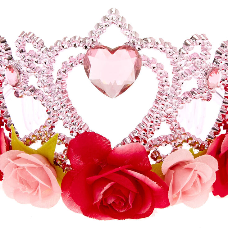 Claire's Club Floral Tiara - Pink,