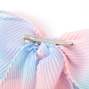 Ombre Pastel Pleated Hair Bow Clip,