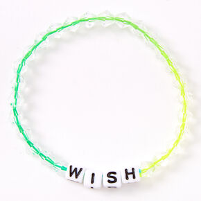 Ombre Rainbow Wish Beaded Stretch Bracelet,