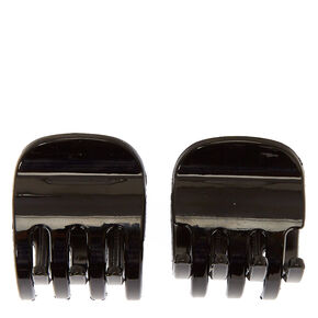 Small Solid Hair Claws - Black, 2 Pack,