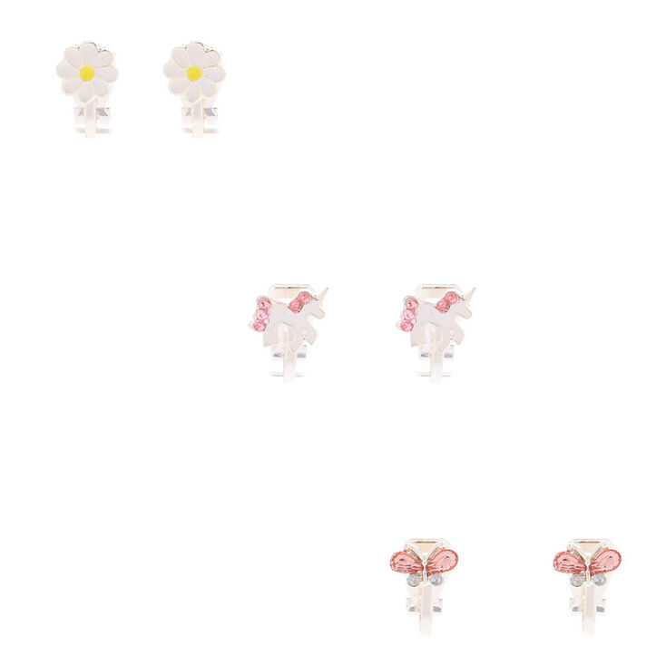 Sweet Spring Clip On Earrings - 3 Pack,