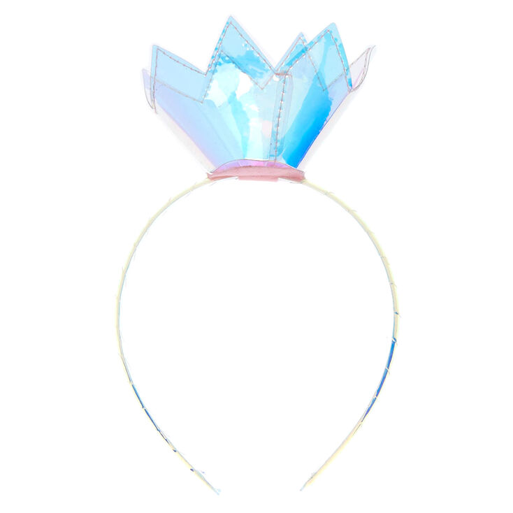 Claire's Club Holographic Crown Headband,