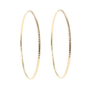 Gold 70MM Twisted Hoop Earrings,