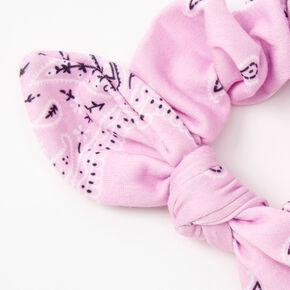 Chouchou à nœud noué bandana - Lilas,