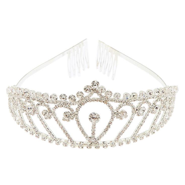 Silver Rhinestone Royal Tiara,