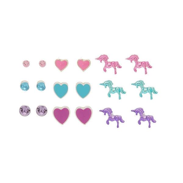 Claire's - heart unicorn earring set - 1