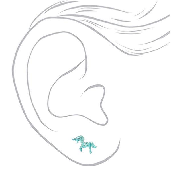 Claire's - heart unicorn earring set - 2