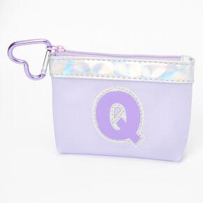 Porte-monnaie à initiale violette - Q,